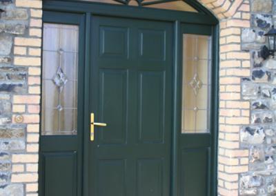 Bespoke hardwood porch door and surround