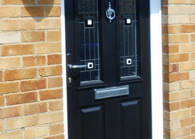 Black Finish Composite Door