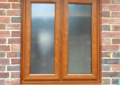 Golden Oak uPVC Bathroom Window