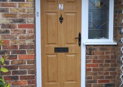 Irish Oak Composite Door & Side Window