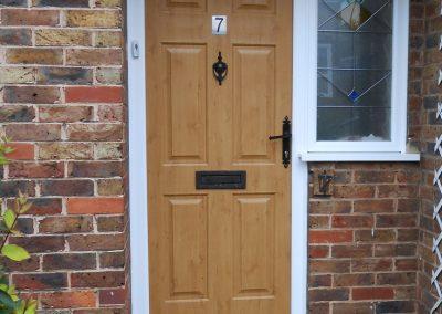 Irish Oak Composite Door & Side Window