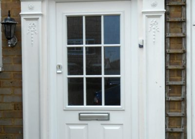 White Finish Composite Door