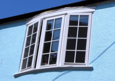 White Finish Hardwood Georgian Bay Window