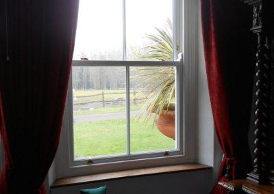 White Finish Hardwood Window