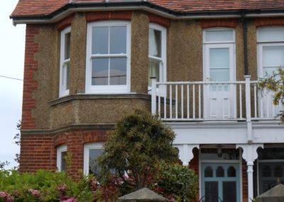 White Finish uPVC Sliding Sash Windows