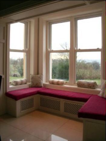 White finsih hardwood sliding sash windows