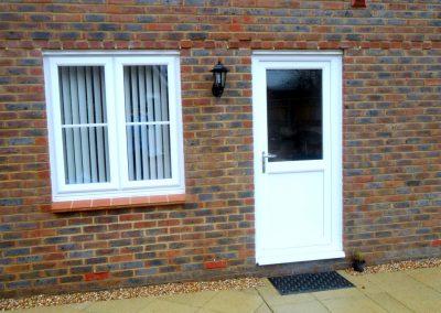 White uPVC Back Door & Window