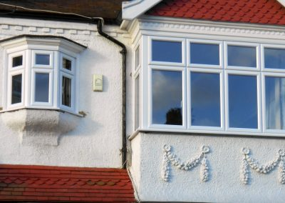 White uPVC Bay Windows with Equal Sight Lines