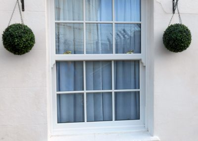 White uPVC Charisma Sliding Sash Window
