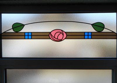 uPVC Window with Rennie MacIntosh Design Fanlight